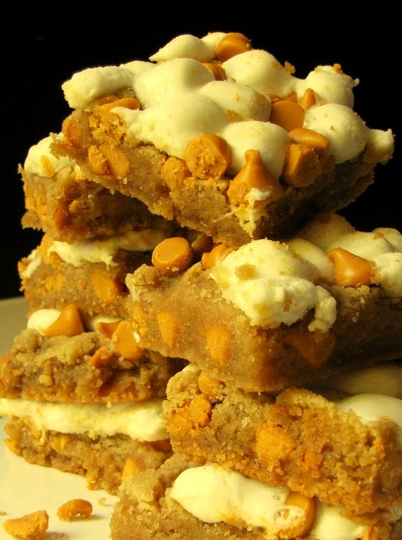 Peanut Butter Marshmallow Butterscotch Bars