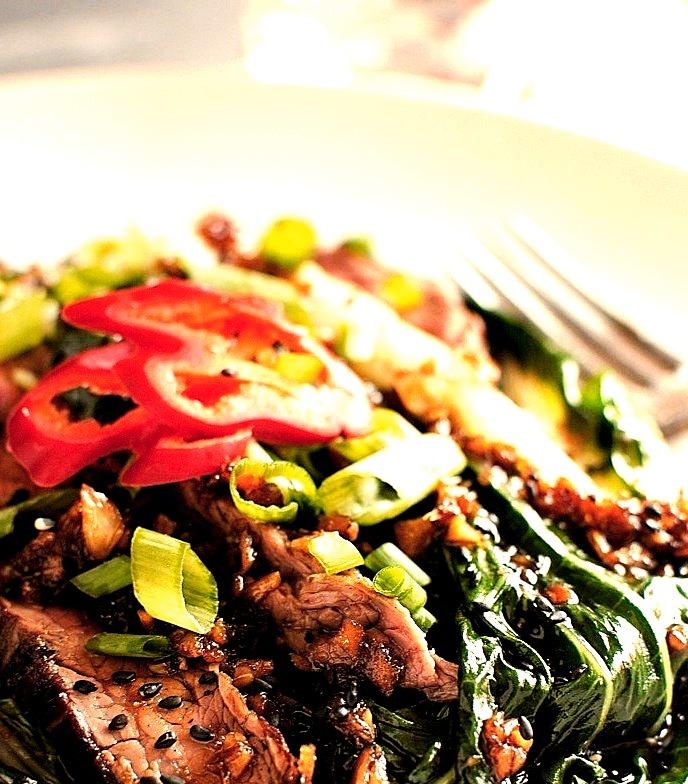 Recipe: Asian Steak Salad with Bok Choy