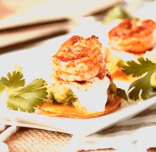 Mini Shrimp Tostadas Follow