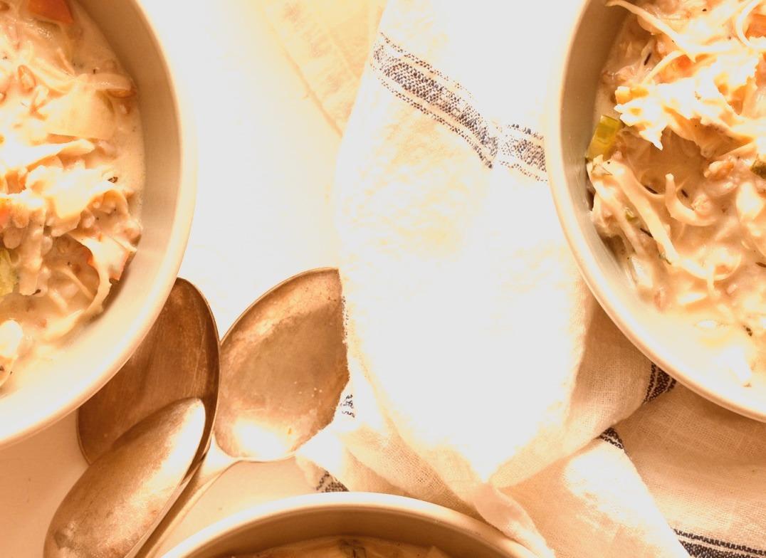 Creamy Chicken and Farro Soup