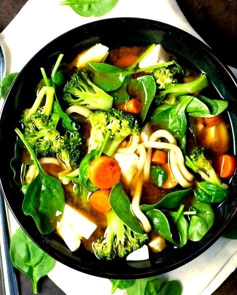 Veggie Miso Udon Soup Produce on Parade